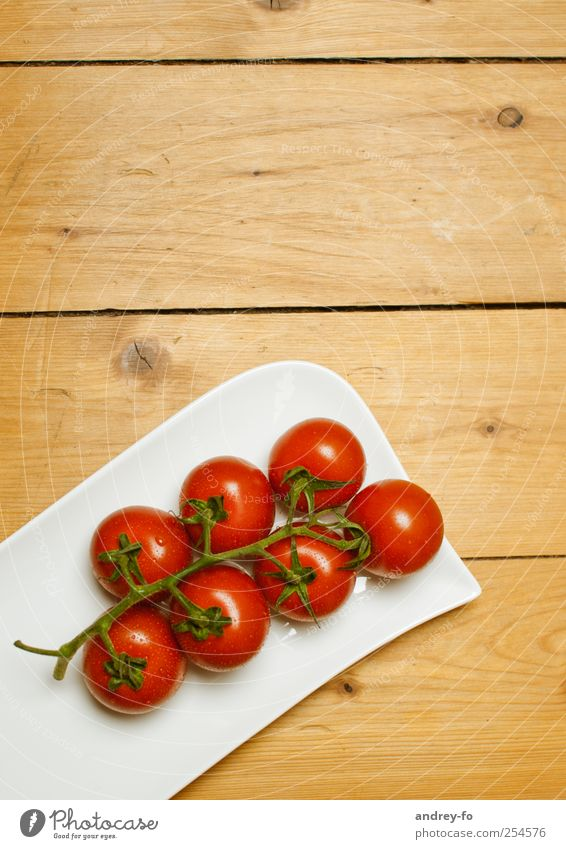 tomatoes Kitchen Wood Fresh Healthy Delicious Brown Red To enjoy Nutrition Tomato Bowl Board Tabletop Vegetarian diet Healthy Eating Mature Round