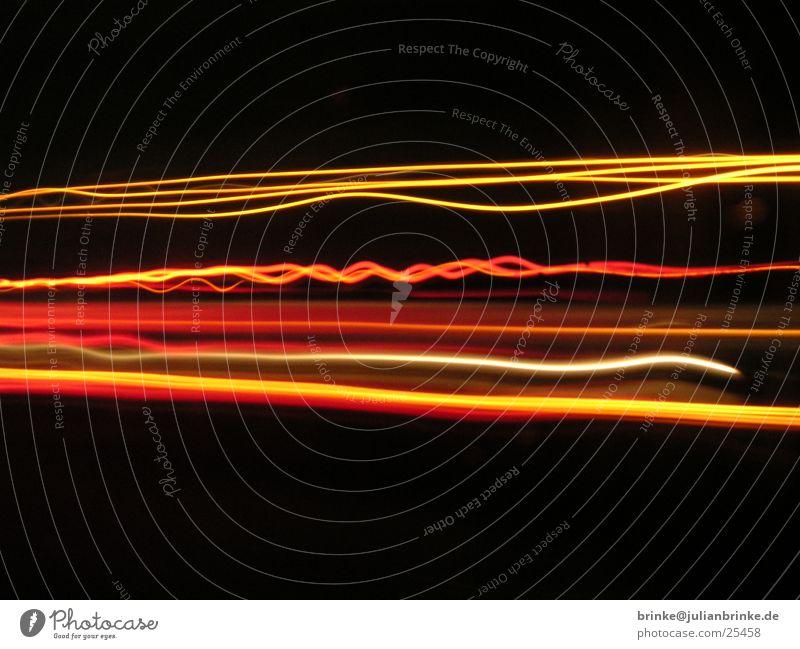 on the road Truck Night 3 Highway Overtake Black Red Krefeld Transport Orange Line Julian brink Guinea pig