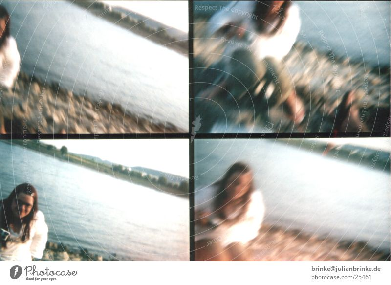 Wild West photo duel Woman Action Krefeld Lomography Rhine Water Coast Stone Blue Human being sampler rheine river Men Julian brink Guinea pig
