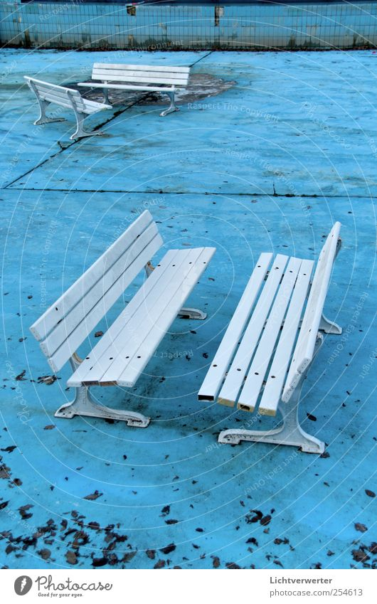 Blue Bank White Architecture Swimming & Bathing Change Bench Swimming pool Tile Sporting Complex