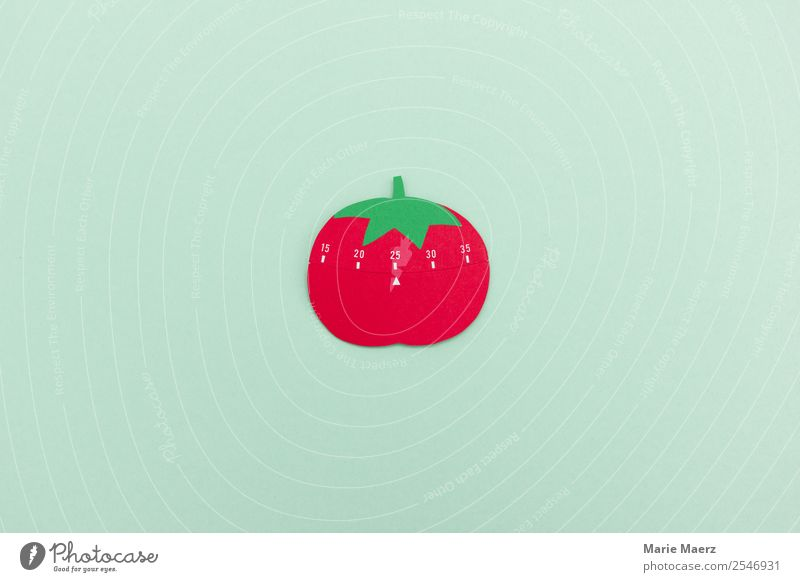Pomodoro technology - Working productively with breaks Education Work and employment Economy Business Company Success Fresh Round Green Red Virtuous