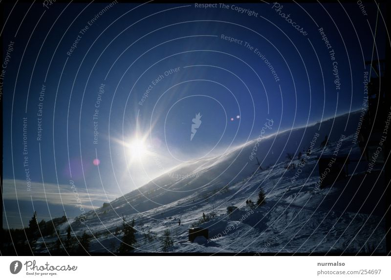 icy star Leisure and hobbies Vacation & Travel Far-off places Winter Snow Winter vacation Mountain Hiking Landscape Cloudless sky Sunrise Sunset Climate Ice