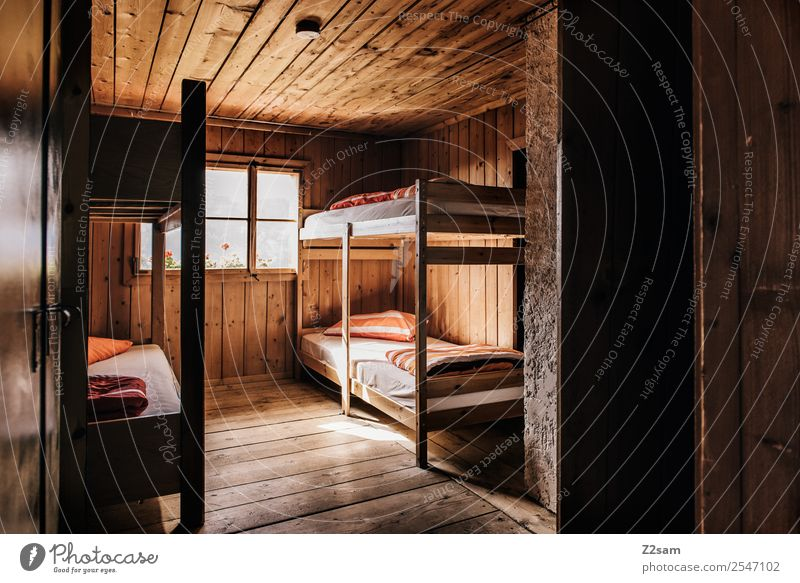 bed dormitory Mountain Hiking Hut Simple Retro Adventure Relaxation Society Uniqueness Vacation & Travel Tourism Living or residing pitztal