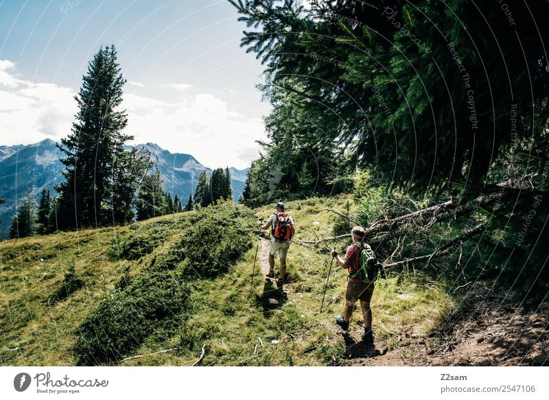 Hikers | Pitztal Alps | Austria Lifestyle Leisure and hobbies Vacation & Travel Adventure Hiking Couple Partner 2 Human being 30 - 45 years Adults Nature