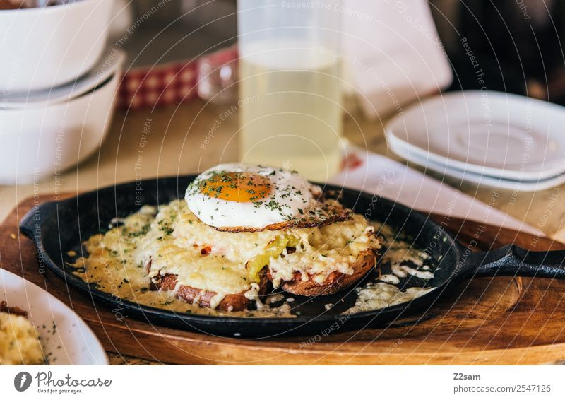 Food at the alpine hut Cheese Bread Egg Breakfast Lunch Pan Vacation & Travel Tourism Summer vacation Hiking Simple Fresh Delicious Natural Healthy
