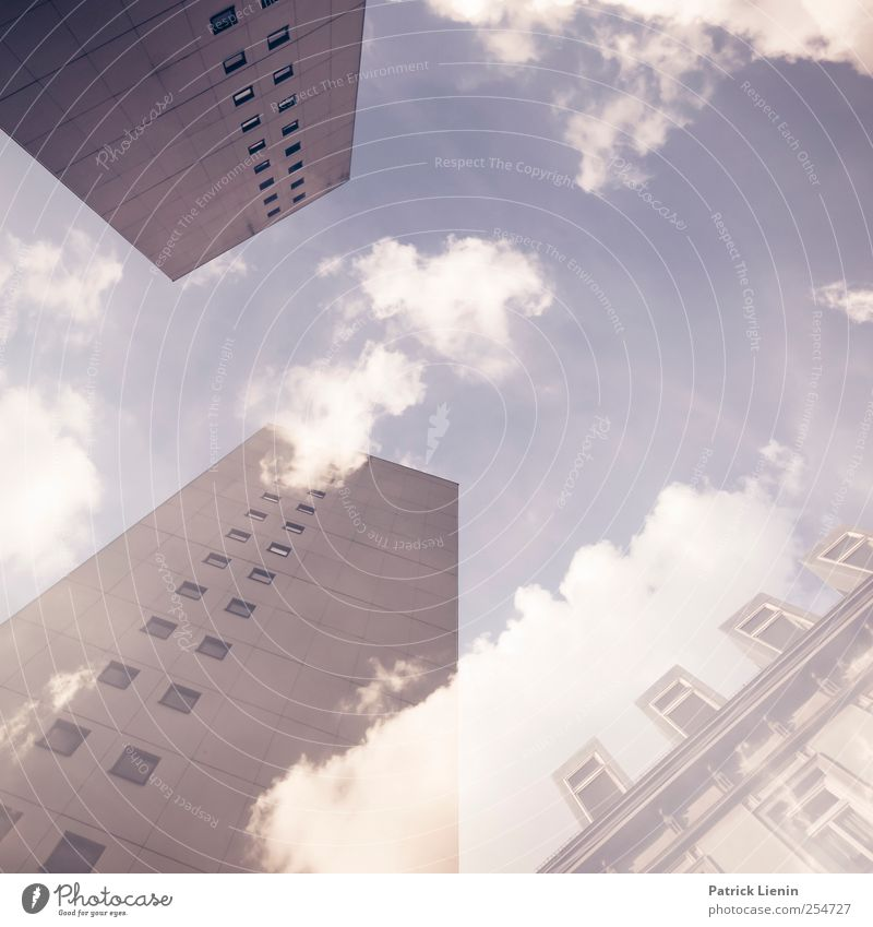 Sky City Clouds Environment Window Wall (building) Wall (barrier) Architecture Building Weather Contentment High-rise Beautiful weather Esthetic Communicate