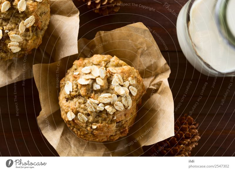 Apple and Oatmeal Muffin Bread Breakfast Fresh food Baking oatmeal grain Cereal Home-made Baked goods cake sweet Snack healthy seasonal fall American quickbread