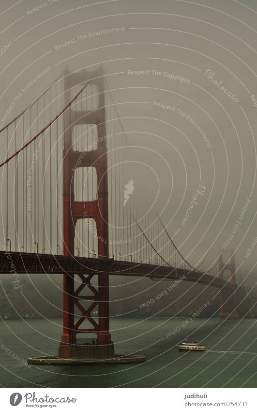 Golden Gate Bridge Vacation & Travel Trip Far-off places Sightseeing City trip Ocean Bad weather Fog Coast Bay San Francisco California North America