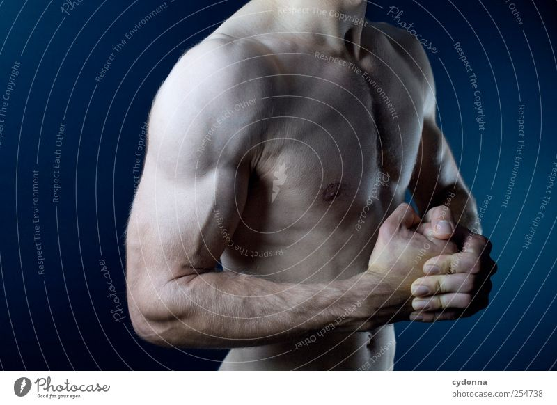 Human being Man Youth (Young adults) Beautiful Life Adults Naked Healthy Body Power Arm Skin Masculine Action Lifestyle Uniqueness