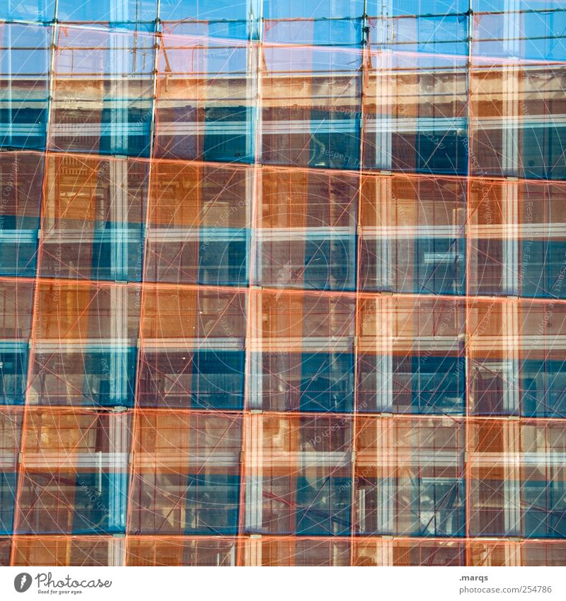 Blue Red Style Background picture Planning Perspective Uniqueness Manmade structures Chaos Double exposure Hip & trendy Surrealism Checkered Grid Scaffold