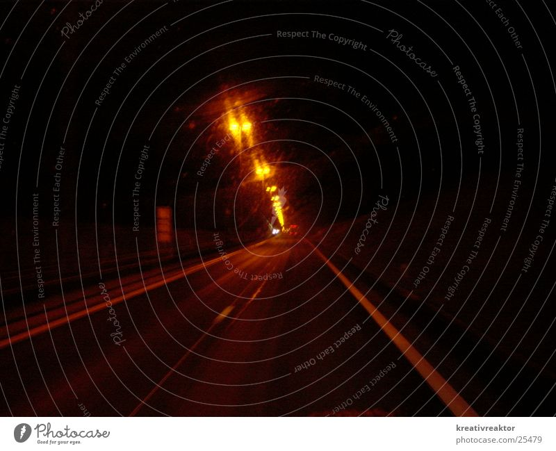 motorway at night Highway Night Street lighting Light Traffic lane Transport Lighting