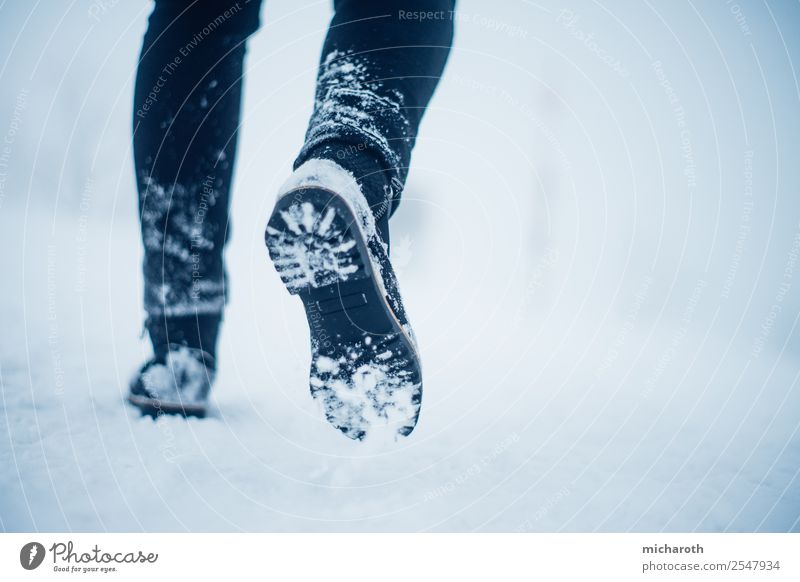 Feet in the snow Vacation & Travel Tourism Trip Adventure Expedition Winter Snow Winter vacation Mountain Hiking Environment Nature Climate Bad weather Fog