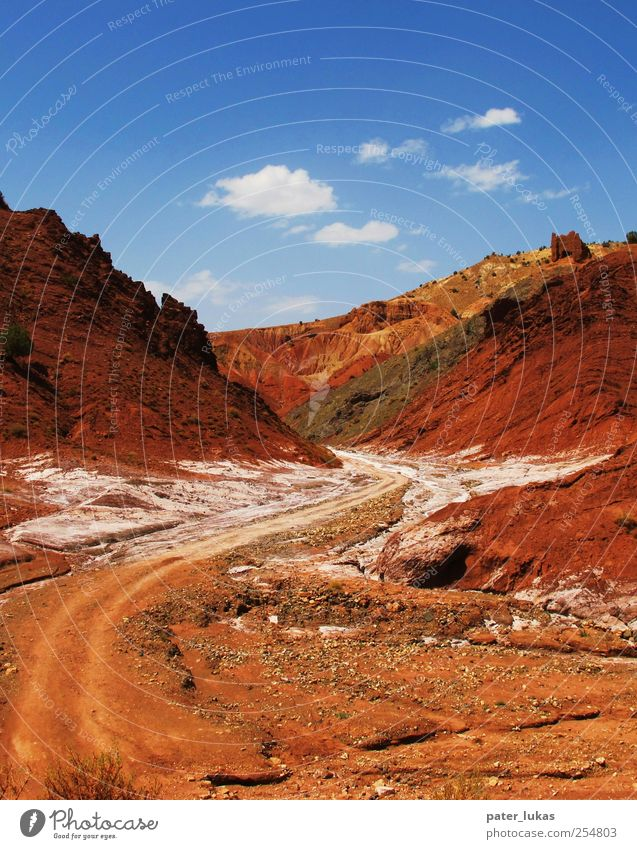 Blue White Red Black Yellow Landscape Earth Rock Elements