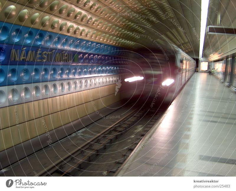 Vacation & Travel Movement Transport Europe Driving Logistics Underground Train station London Underground Prague Public transit