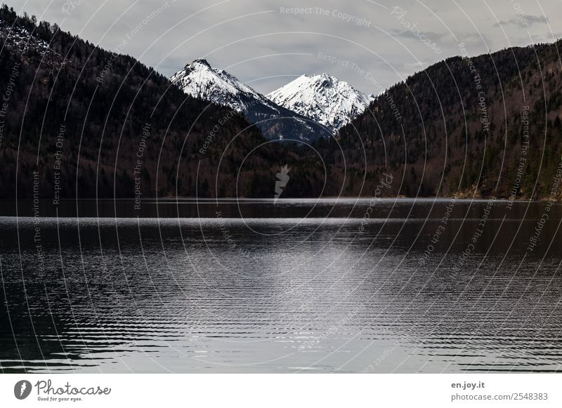 900 | incision Vacation & Travel Trip Far-off places Mountain Nature Landscape Sky Winter Alps Peak Snowcapped peak Lake Dark Black Loneliness