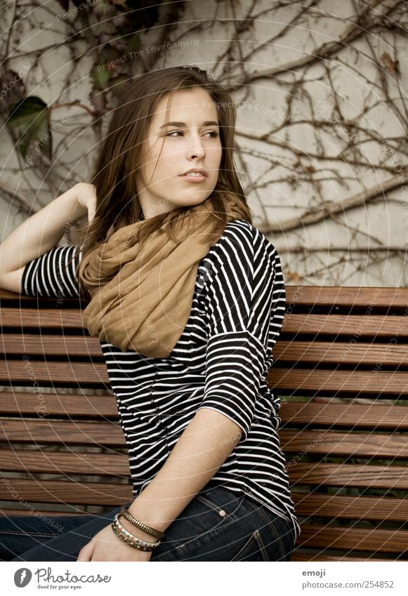 change of seasons Feminine Young woman Youth (Young adults) 1 Human being 18 - 30 years Adults Beautiful Brown Autumn Meditative Colour photo Exterior shot