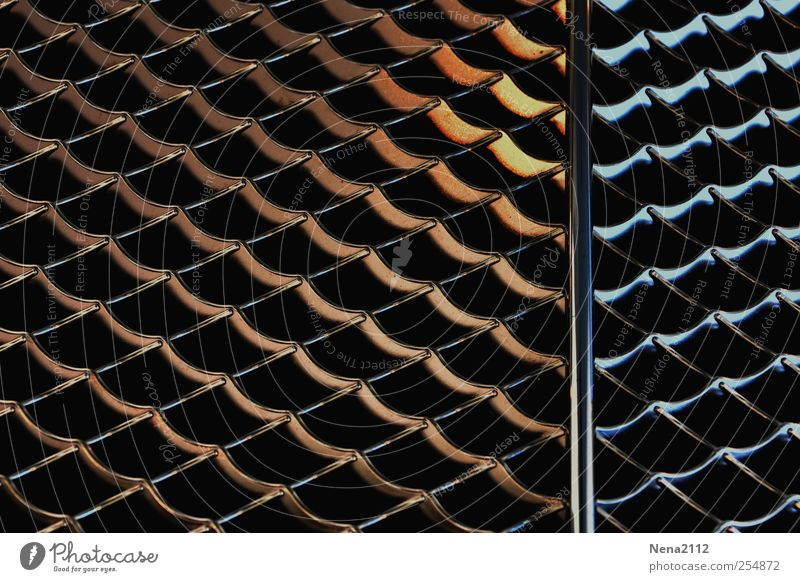 Gold/Silver? Metal Steel Cold Warmth Parallel Line wire net Chrome Clean Glittering Radiator  grille Colour photo Interior shot Close-up Detail Abstract Pattern