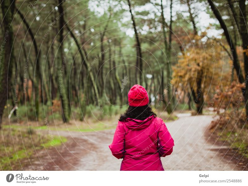 Matured woman Woman Human being Nature Beautiful White Tree Leaf Forest Winter Face Lifestyle Adults Autumn Lanes & trails Natural Freedom