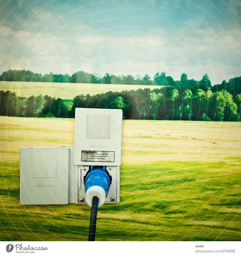 Sky Nature Green Clouds Meadow Environment Landscape Funny Field Background picture Energy Energy industry Climate Electricity Cable Image