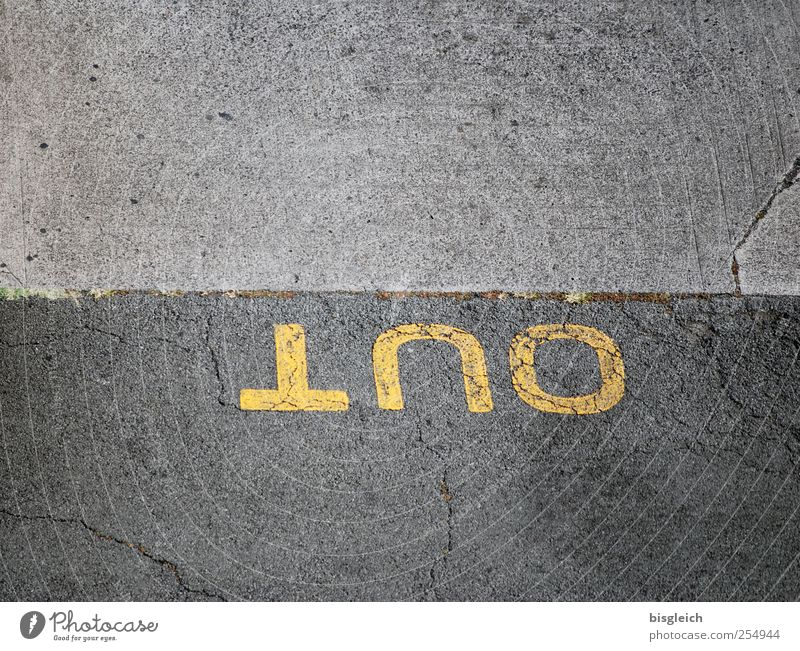Out II Motoring Street Parking lot Highway ramp (exit) Concrete Yellow Gray insein out Colour photo Subdued colour Exterior shot Deserted Copy Space top