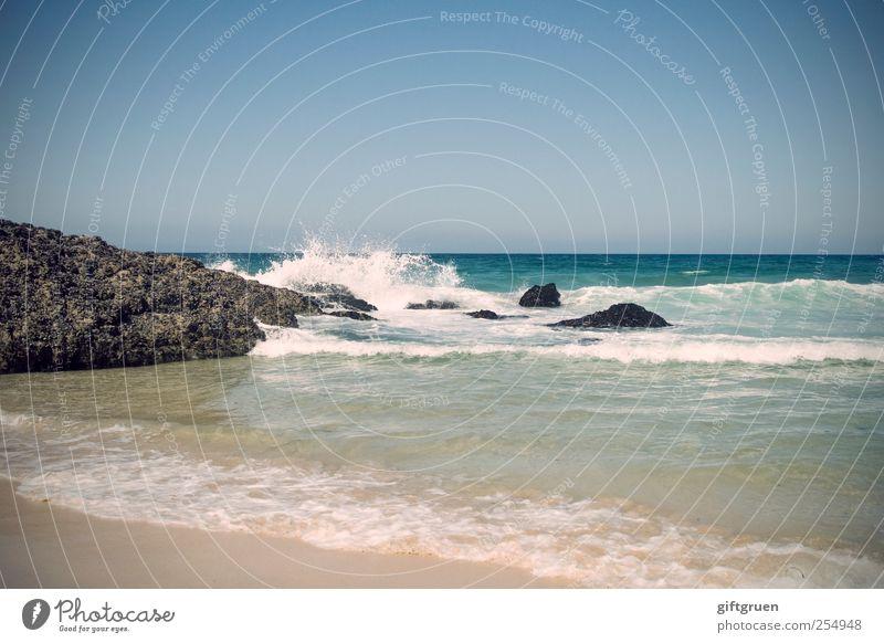 Sky Nature Water Blue Ocean Environment Landscape Sand Coast Waves Horizon Rock Drops of water Island Elements Bay