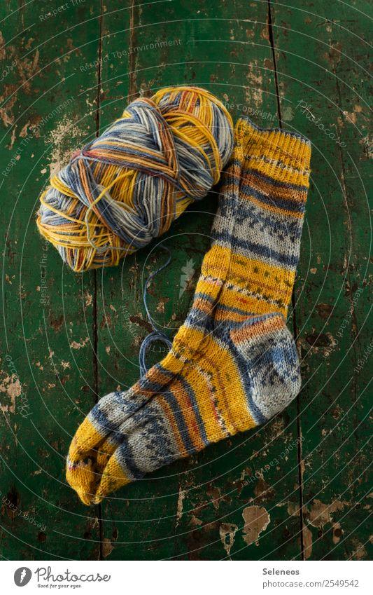 yolk socks Leisure and hobbies Knit Home improvement Stockings Warmth Soft Wool Ball of wool Wool socks Colour photo Interior shot