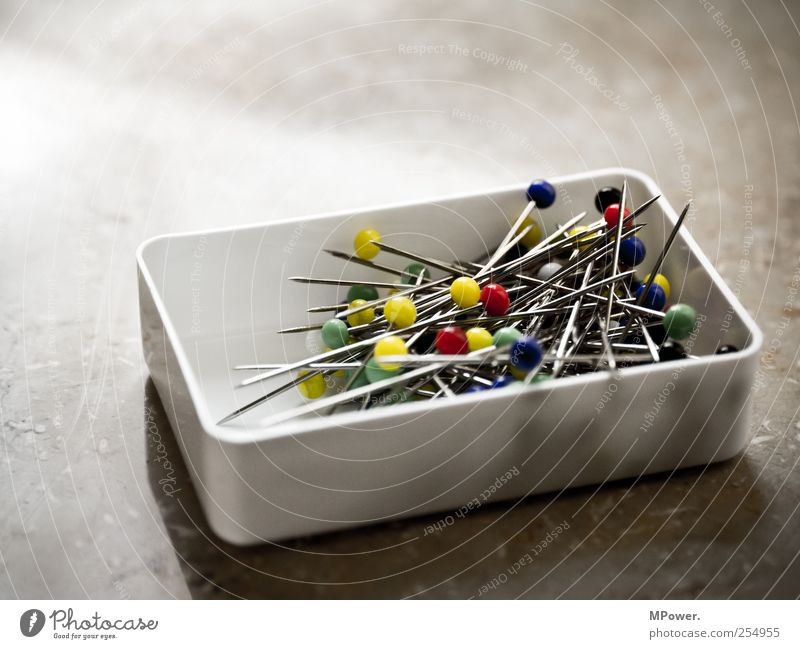 Colourful mixture Metal Steel Round Multicoloured Yellow Green Red Needle Pin Pin head Carton Sphere Point Sting Fix Plastic Muddled Mixed Chaos Tailor