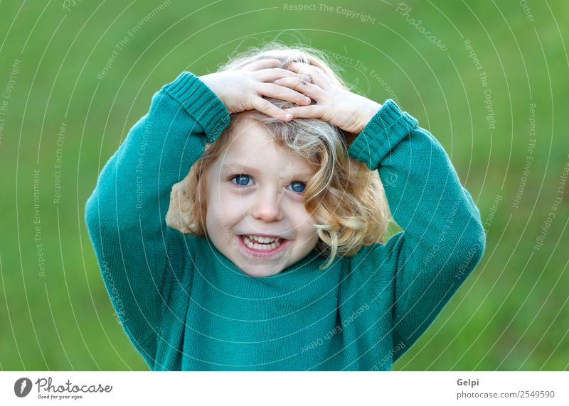 blond child Happy Beautiful Face Summer Child Human being Baby Boy (child) Man Adults Infancy Hand Nature Plant Blonde Smiling Small Long Natural Cute Green