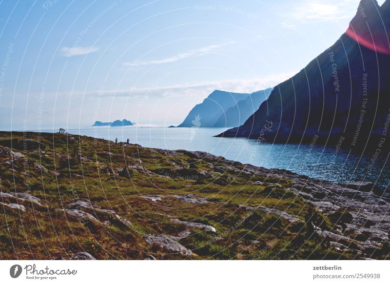 Å Arctic Ocean Europe Rock Vacation & Travel Fjord Sky Heaven Horizon Island Peninsula Landscape Promontory Maritime Deserted Nature Norway Travel photography