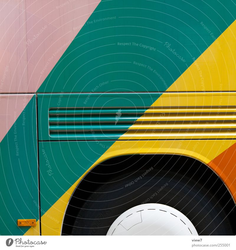 colored vehicel Logistics Transport Means of transport Passenger traffic Bus travel Vehicle Line Stripe Authentic Simple Happiness Fresh Large Modern Beautiful