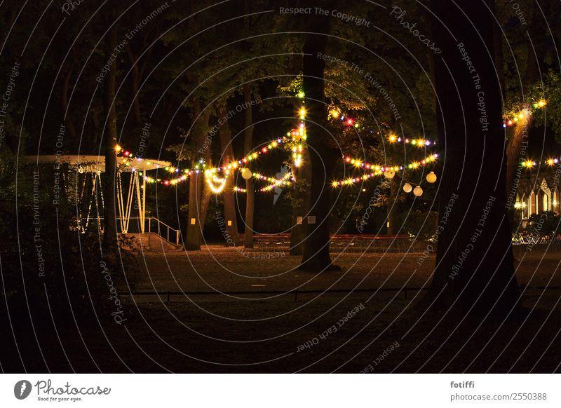 Town Tree Forest Dark Life Lighting Moody Park Stairs Illuminate Glittering Happiness Round Hope Kitsch Trashy