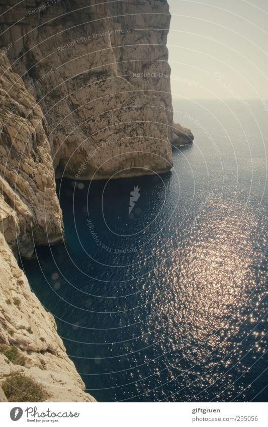 Sky Nature Water Blue Sun Ocean Environment Landscape Coast Stone Waves Horizon Earth Rock Tall Large