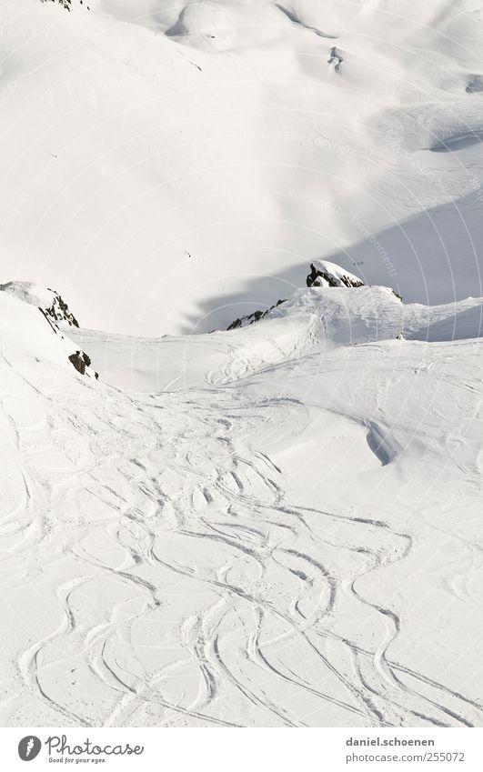 Nature White Vacation & Travel Winter Snow Freedom Landscape Mountain Bright Tourism Alps Tracks Switzerland Winter vacation Ski run