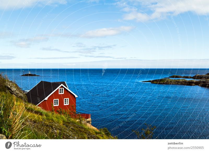 Preparation Arctic Ocean Europe falun red Rock Vacation & Travel Fisherman Fishery Fishermans hut Fjord House (Residential Structure) Sky Heaven Wood