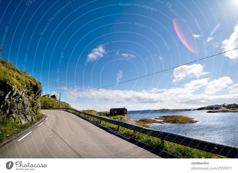 Kong Olavs veg Street Transport E 10 European road Travel photography Arctic Ocean Rock Vacation & Travel Sky Heaven Horizon Island Landscape Maritime Nature