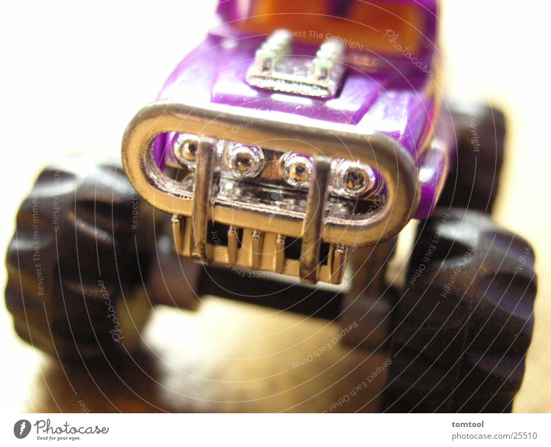 Cool (slang) Violet Kitsch Toys Truck Statue Monster Pick-up truck Mythical creature Model car