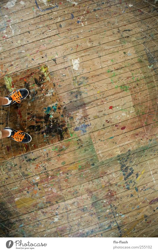 Human being Graffiti Wood Feet Art Footwear Room Dirty Stand Redecorate Artist Painter Attic