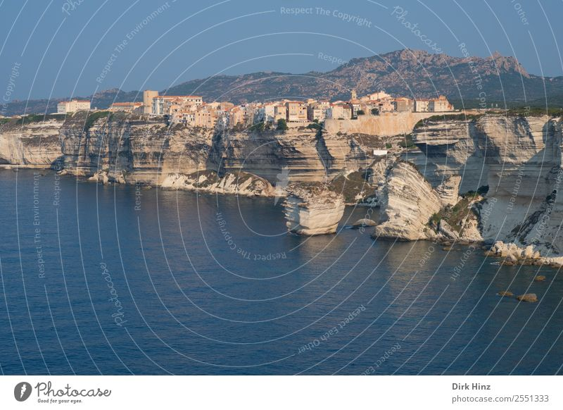 View to the coast of Bonifacio / Corsica Vacation & Travel Tourism Trip Far-off places Freedom City trip Cruise Summer Summer vacation Environment Nature