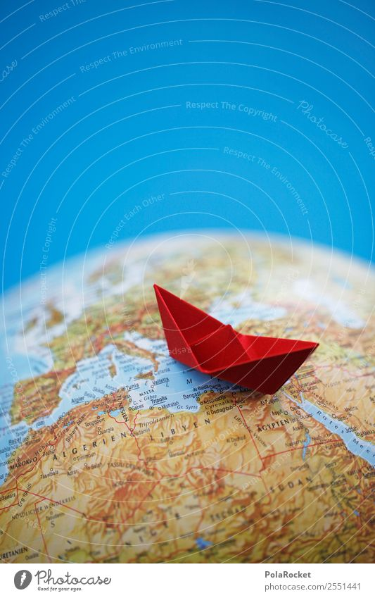 #AS# Sailing Art Esthetic Refugee Red Mediterranean sea Navigation Watercraft Wreck Maritime disaster Travel photography Vacation & Travel Traveling Origami