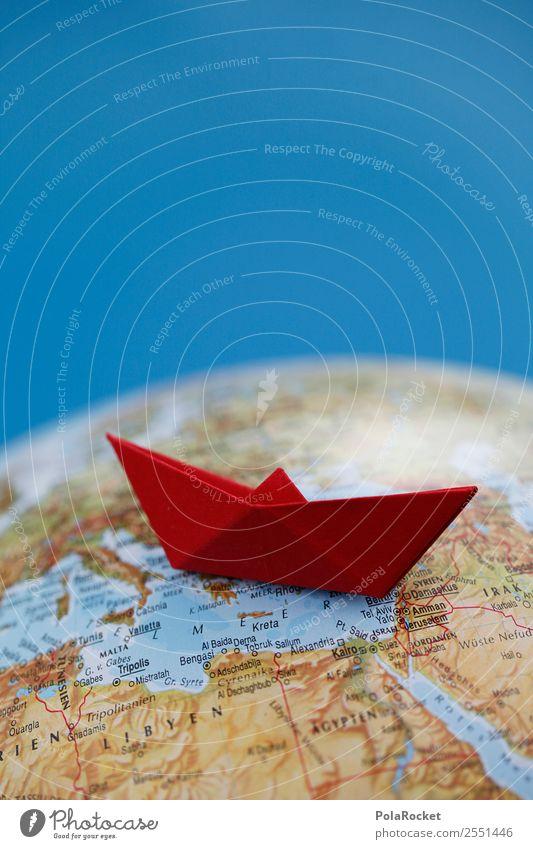 #A# Shipwreck Art Work of art Kitsch Refugee Watercraft Boating trip Navigation Cruise Globe Logistics Colour photo Multicoloured Interior shot Studio shot