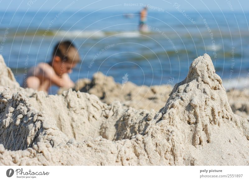 Kleckerburg on the beach Wellness Relaxation Leisure and hobbies Playing Vacation & Travel Tourism Adventure Far-off places Freedom Child Toddler Boy (child)