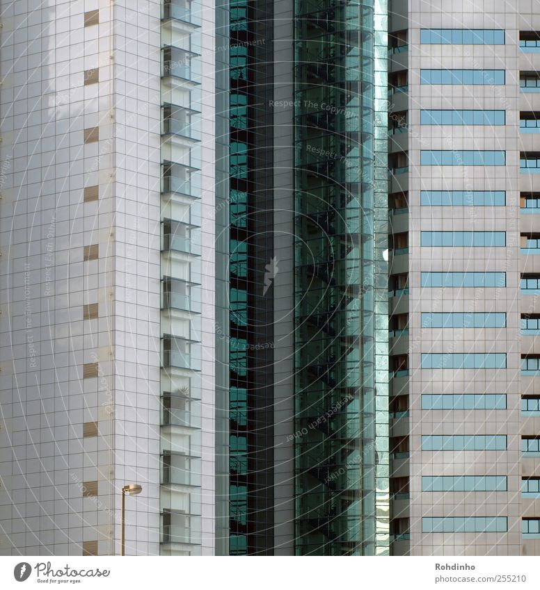 window cookies Dubai Town Downtown Deserted High-rise Manmade structures Building Architecture Facade Balcony Concrete Glass Glittering Modern Line Window