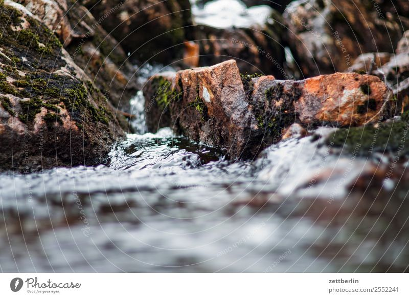 mountain stream Rock Gravel Stone Landscape Nature Norway Vacation & Travel Travel photography Scandinavia Current Copy Space Hiking Water Waterfall