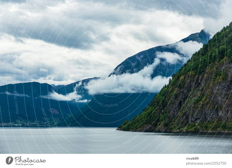 Nature Vacation & Travel Water Landscape Relaxation Clouds Mountain Environment Tourism Rock Idyll Tourist Attraction Scandinavia Norway Fjord Landscape format