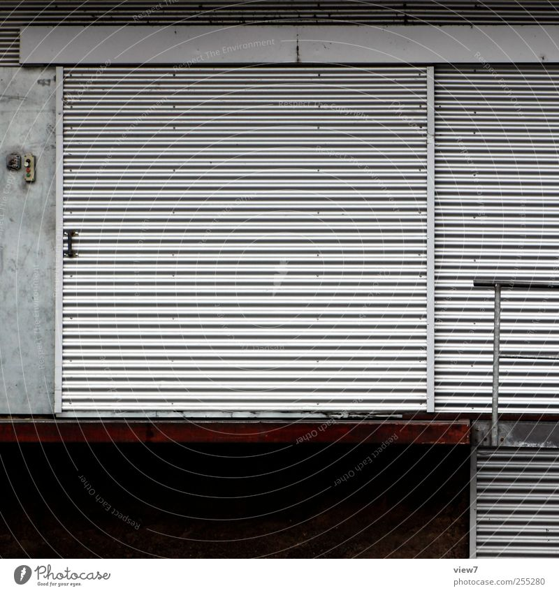 Old House (Residential Structure) Wall (building) Architecture Gray Wall (barrier) Building Metal Line Facade Modern Authentic Stripe Logistics