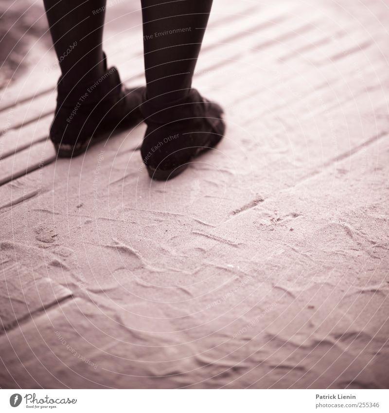 Human being Woman Beautiful Adults Legs Black & white photo