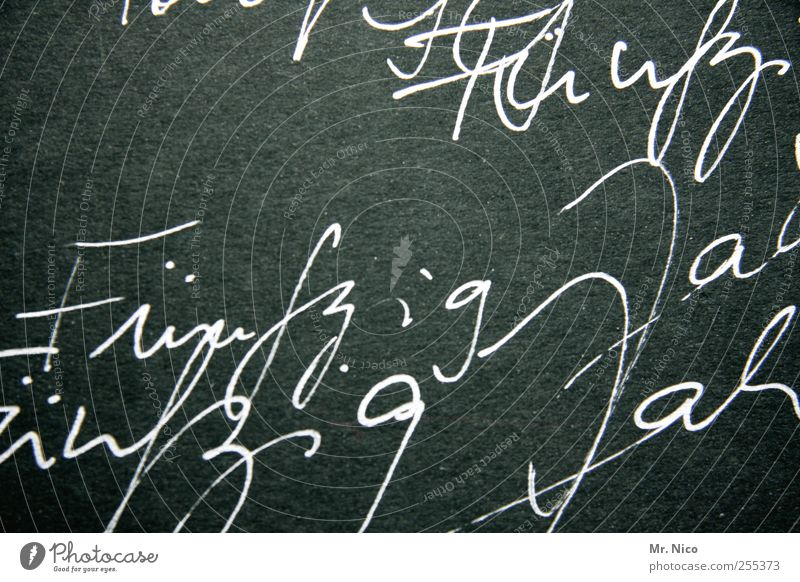 Old Life Feasts & Celebrations Characters Digits and numbers Write Information Sign Blackboard Typography Joie de vivre (Vitality) 50 Handwriting Jubilee