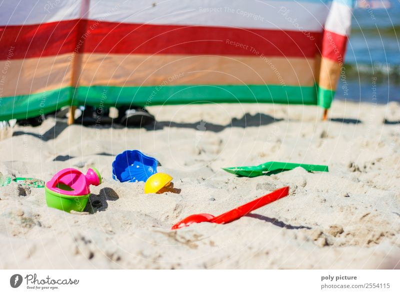 Sand toys on the seashore Lifestyle Wellness Leisure and hobbies Vacation & Travel Tourism Trip Adventure Freedom Summer Summer vacation Sun Sunbathing Beach