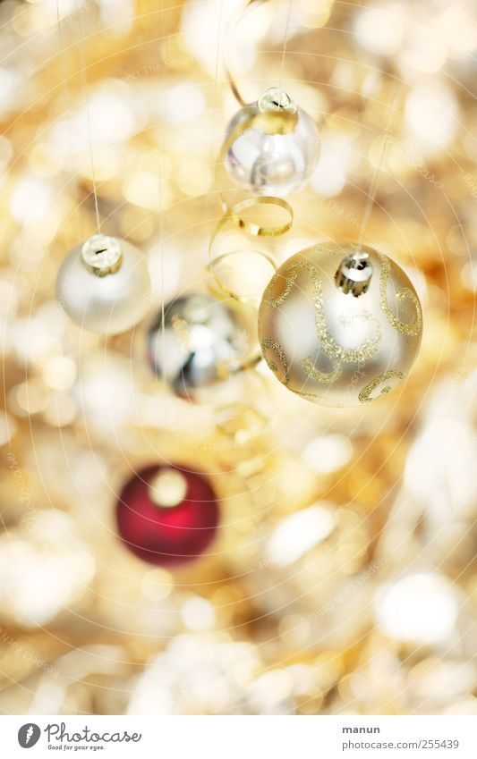 Christmas & Advent Beautiful Bright Feasts & Celebrations Gold Glittering Illuminate Round Sign Sphere Glitter Ball Anticipation