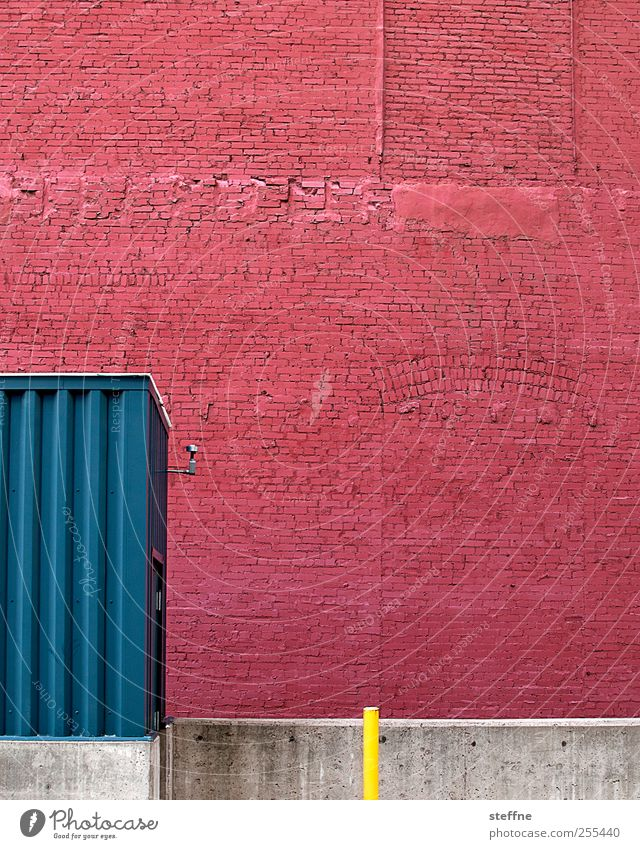 Red House (Residential Structure) Wall (building) Wall (barrier) Building Facade USA Joie de vivre (Vitality) Graphic Industrial plant Brick facade